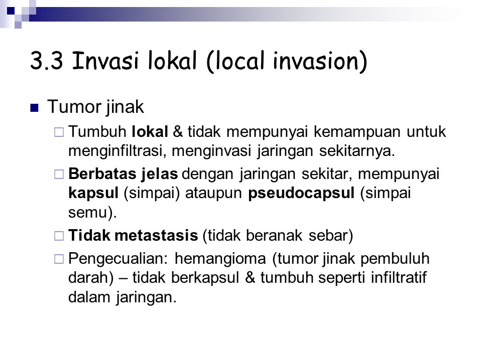 3.3 Invasi lokal (local invasion)