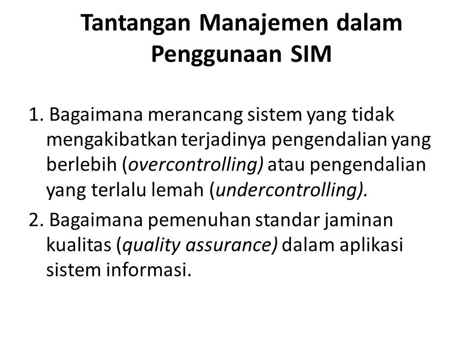 Tantangan Manajemen dalam Penggunaan SIM