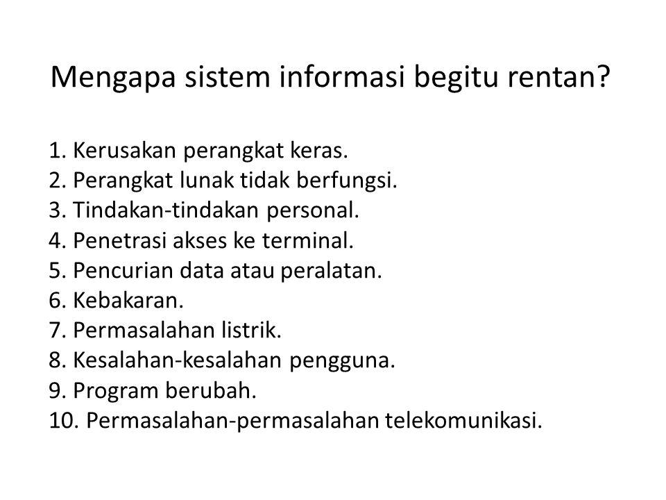 Mengapa sistem informasi begitu rentan