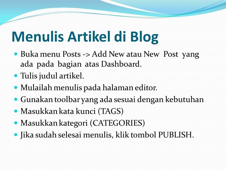 Menulis Artikel di Blog