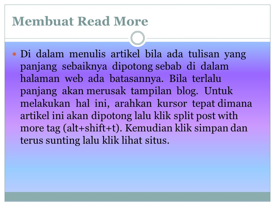 Membuat Read More