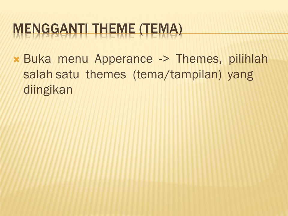 Mengganti Theme (Tema)