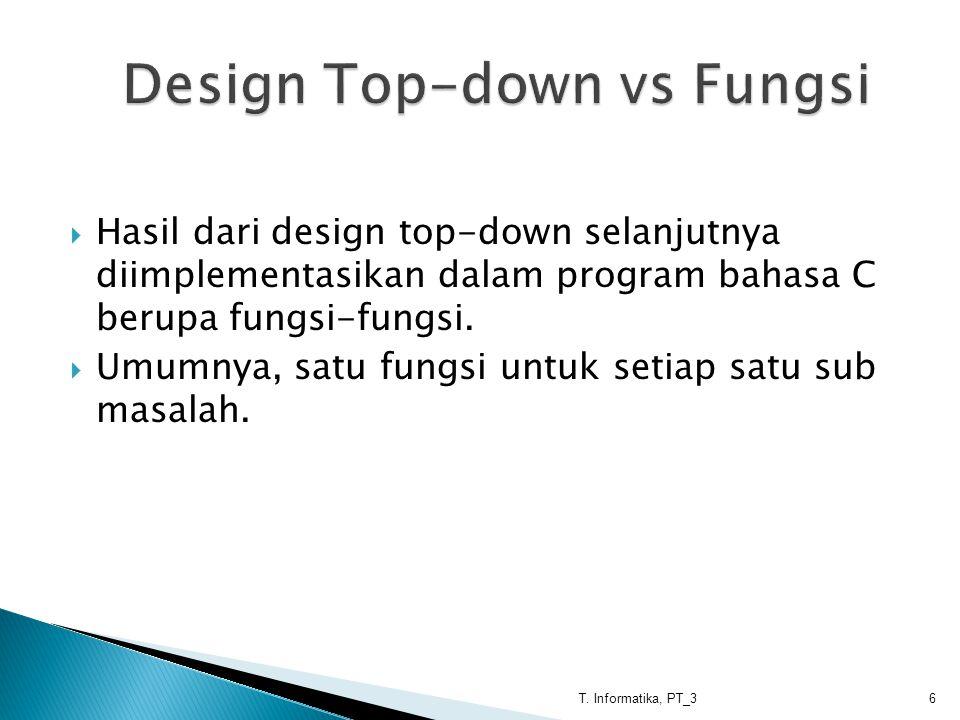Design Top-down vs Fungsi