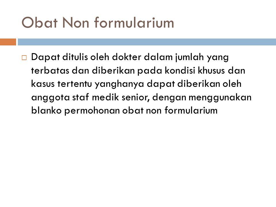 Obat Non formularium
