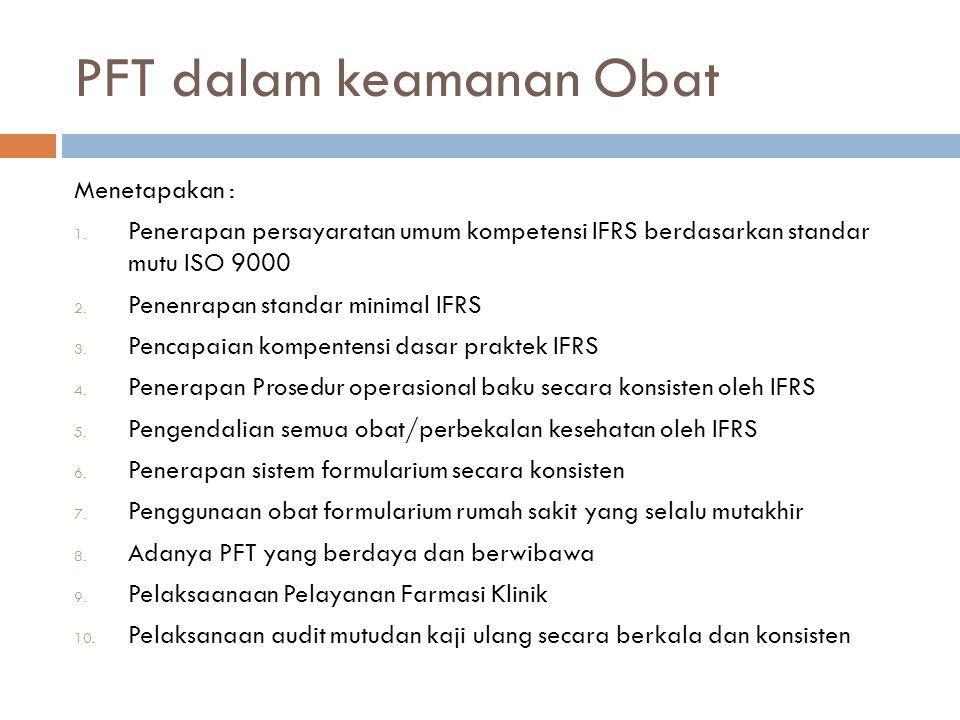 PFT dalam keamanan Obat