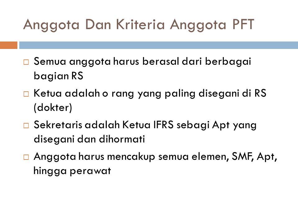 Anggota Dan Kriteria Anggota PFT