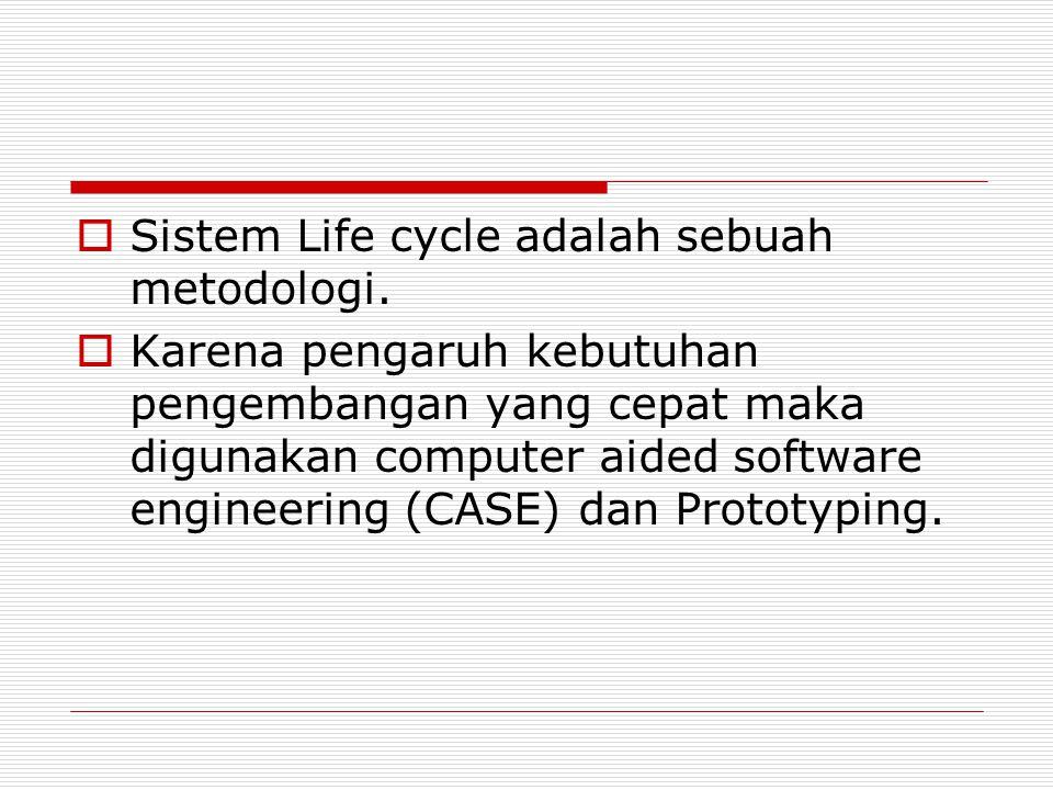 Sistem Life cycle adalah sebuah metodologi.