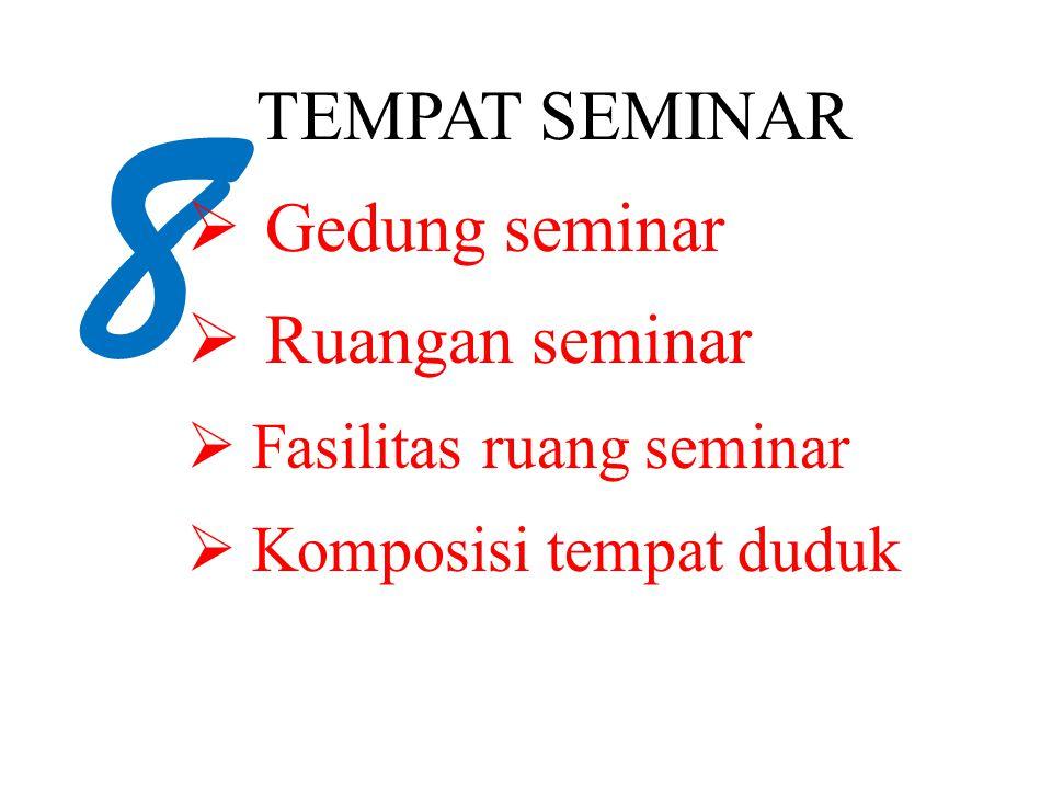 8 TEMPAT SEMINAR Gedung seminar Ruangan seminar