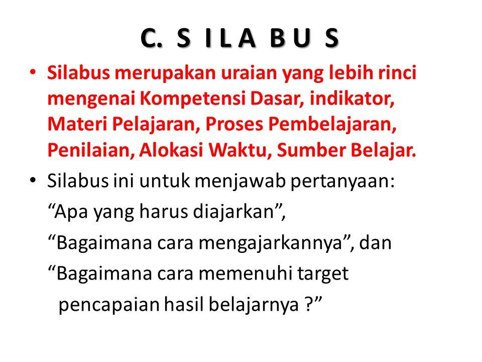 C. S I L A B U S