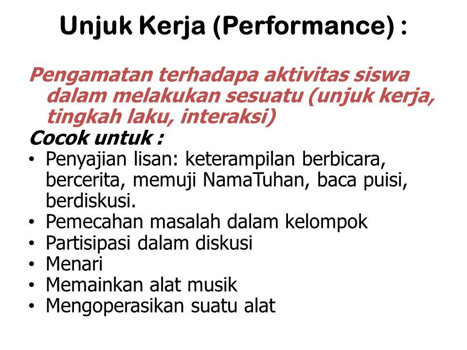 Unjuk Kerja (Performance) :