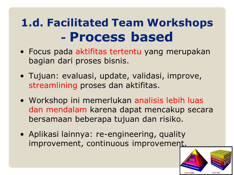 1.d. Facilitated Team Workshops - Process based