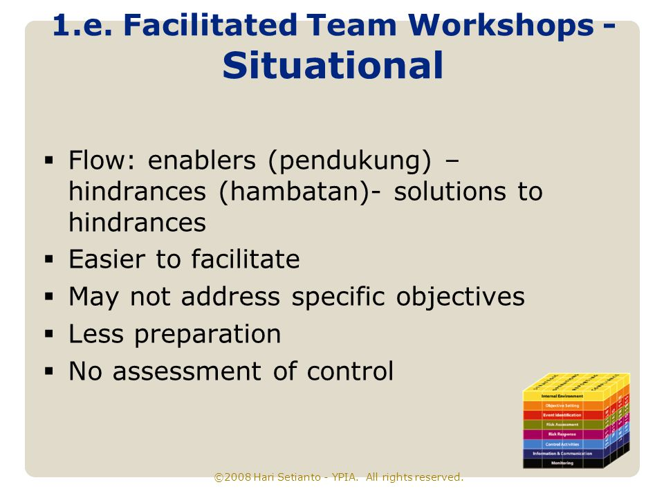 1.e. Facilitated Team Workshops - Situational