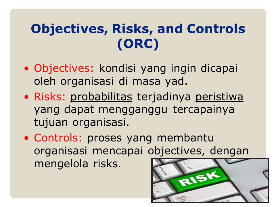 Objectives, Risks, and Controls (ORC)