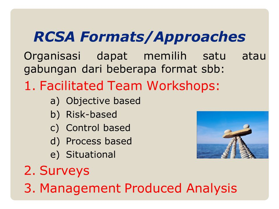 RCSA Formats/Approaches