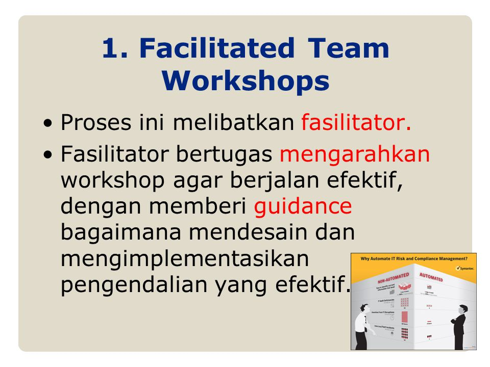 1. Facilitated Team Workshops