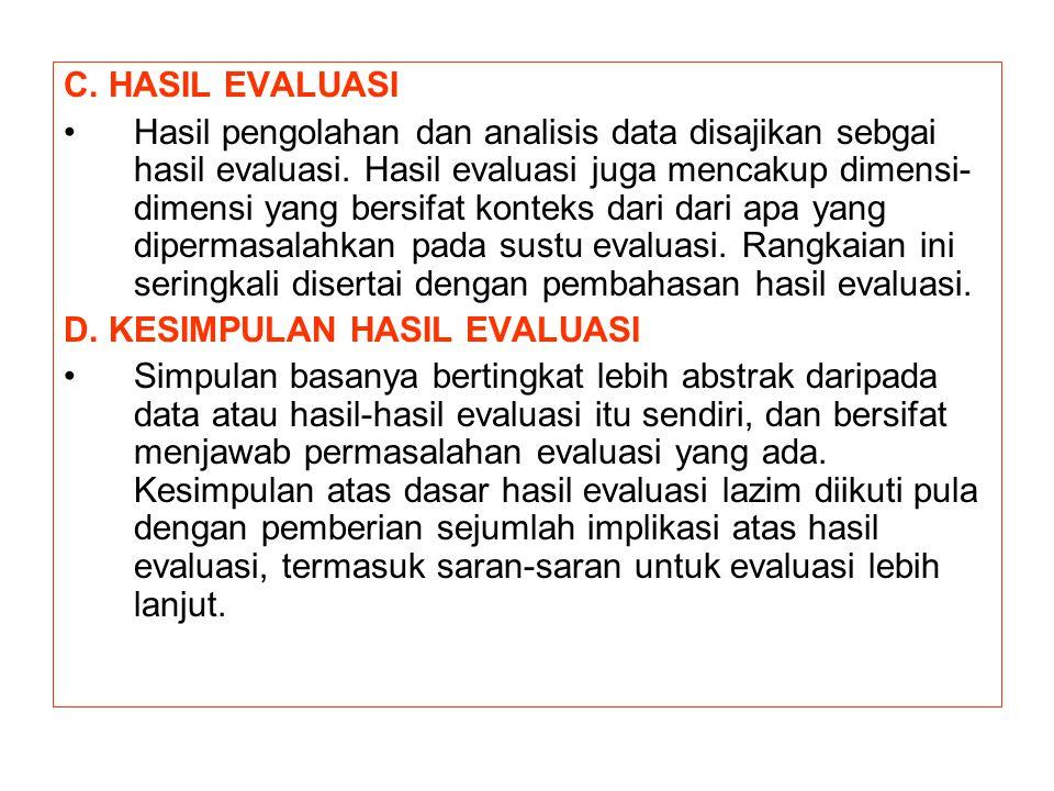 C. HASIL EVALUASI