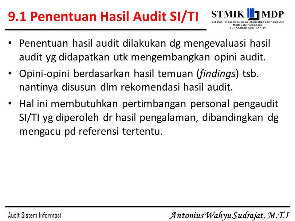 9.1 Penentuan Hasil Audit SI/TI
