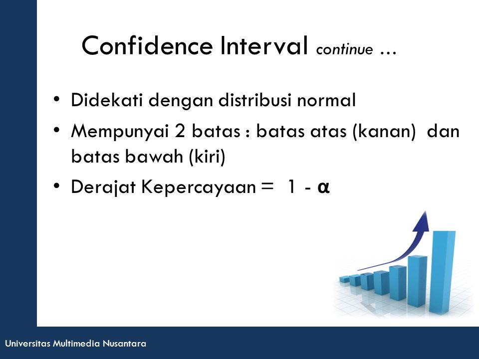 Confidence Interval continue …