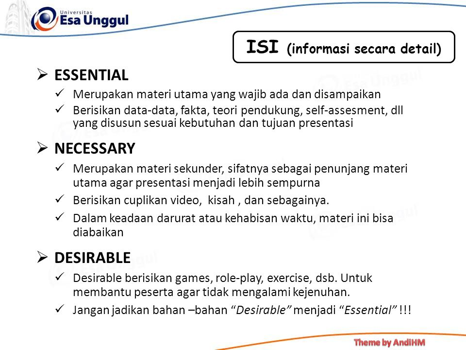 ISI (informasi secara detail)