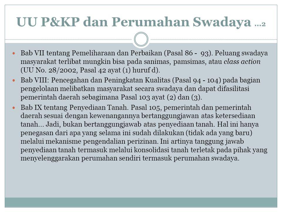 UU P&KP dan Perumahan Swadaya ...2