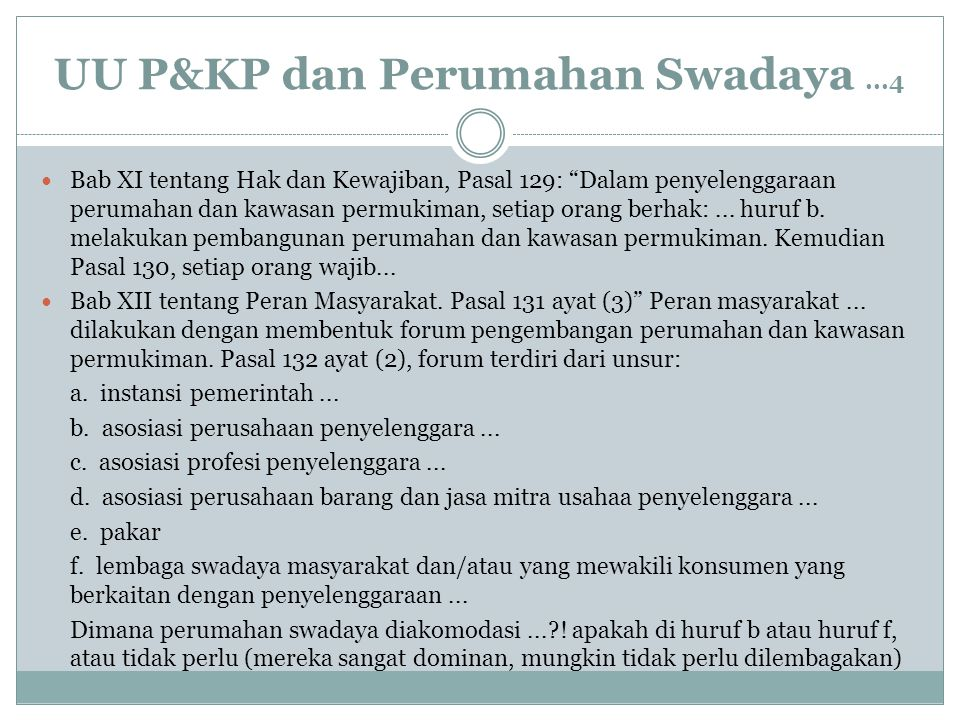UU P&KP dan Perumahan Swadaya ...4