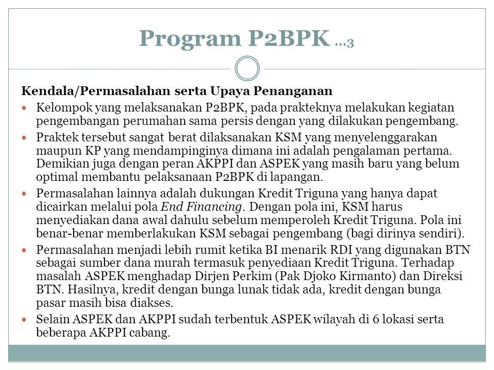 Program P2BPK ...3 Kendala/Permasalahan serta Upaya Penanganan
