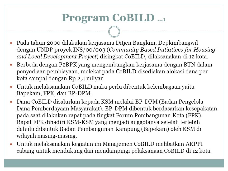 Program CoBILD ...1