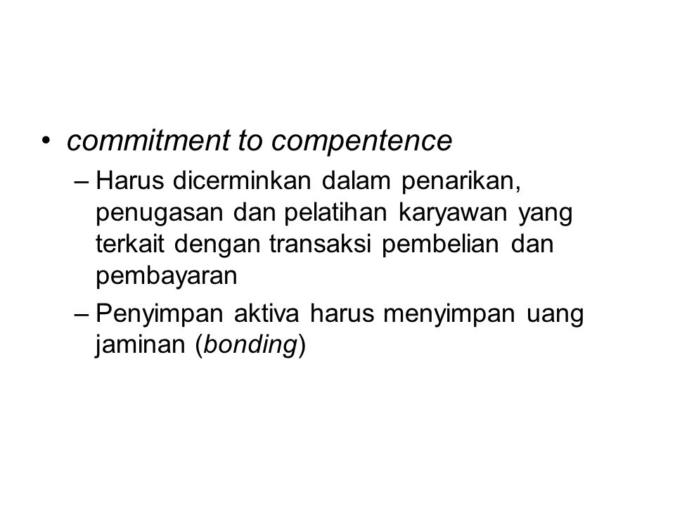 commitment to compentence