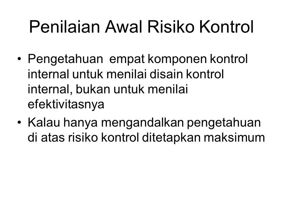 Penilaian Awal Risiko Kontrol