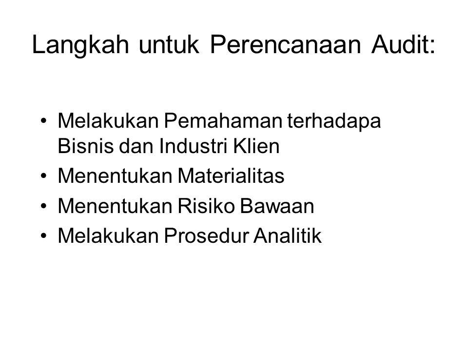 Langkah untuk Perencanaan Audit: