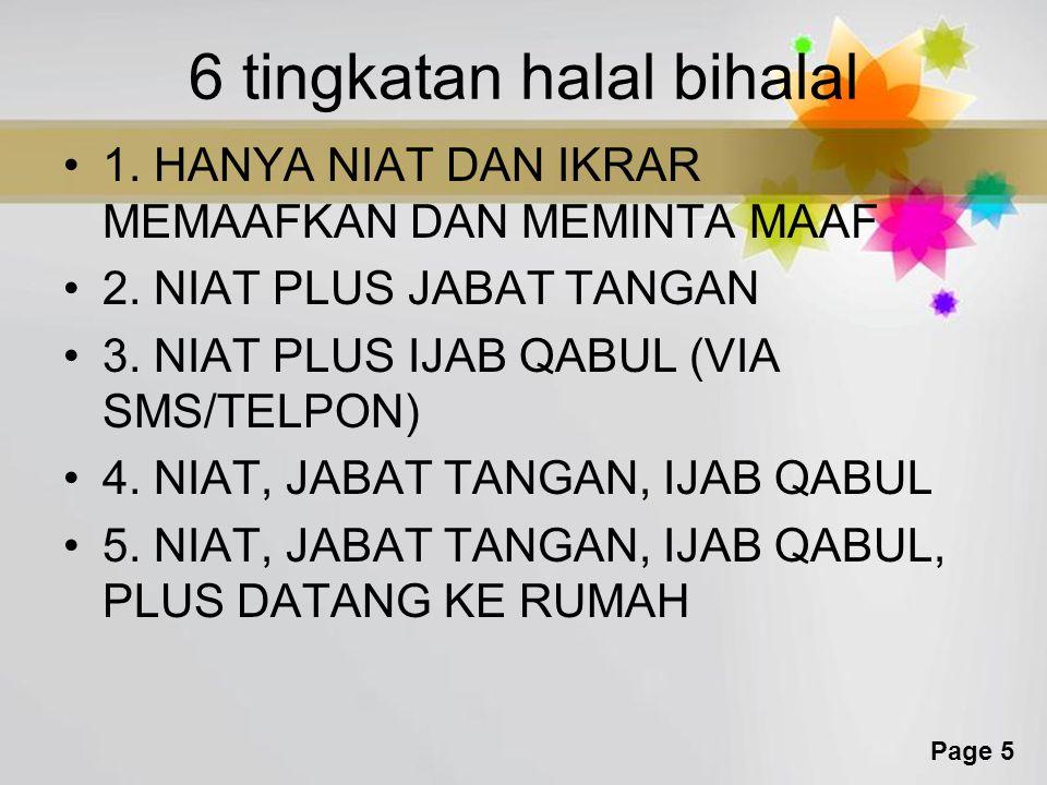 6 tingkatan halal bihalal