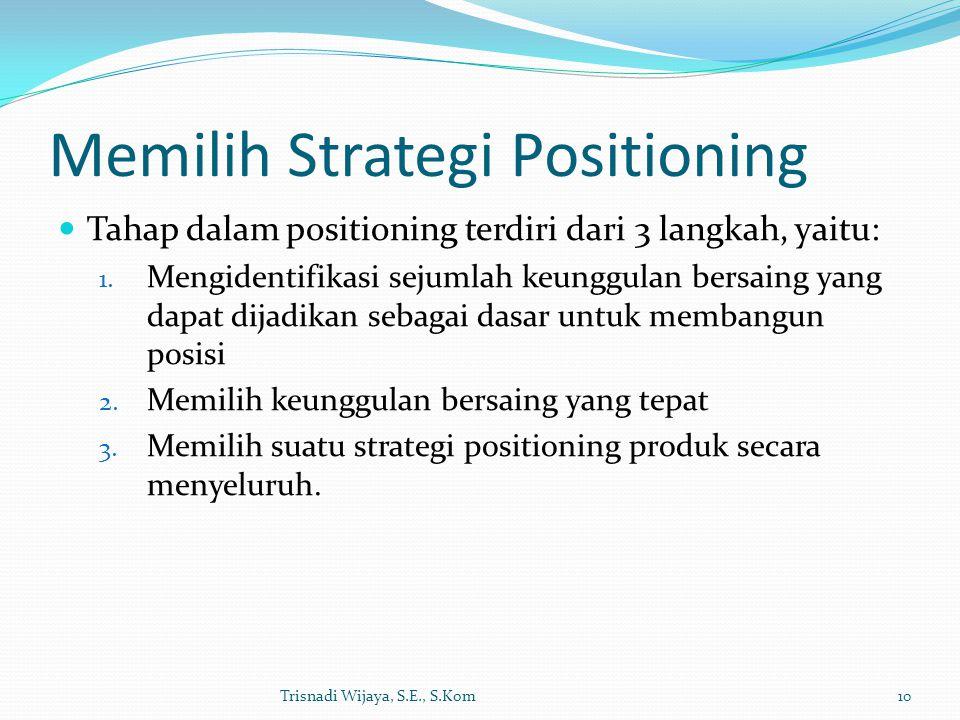 Memilih Strategi Positioning