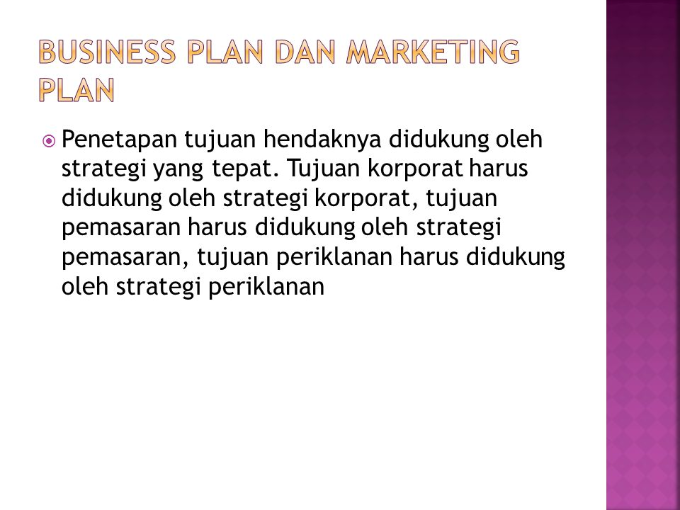 Business plan dan Marketing plan