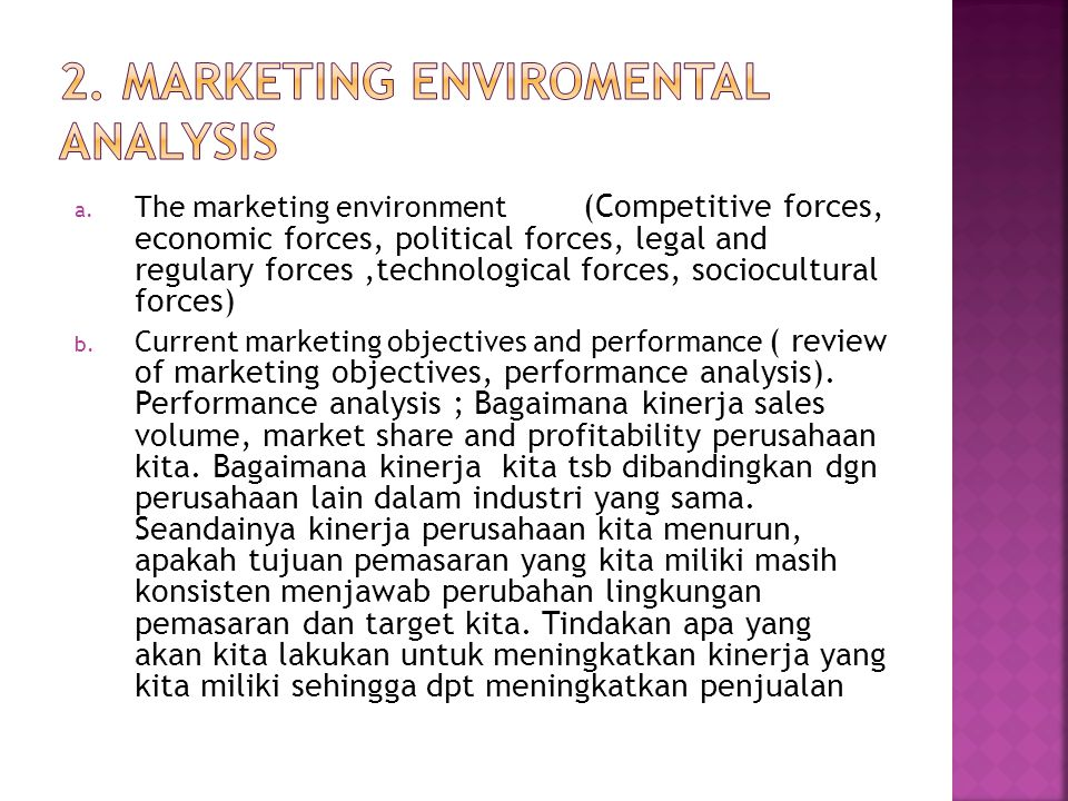 2. MARKETING Enviromental Analysis