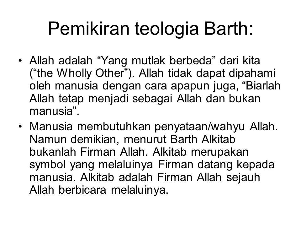 Pemikiran teologia Barth: