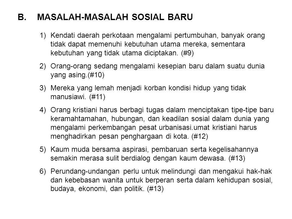 MASALAH-MASALAH SOSIAL BARU