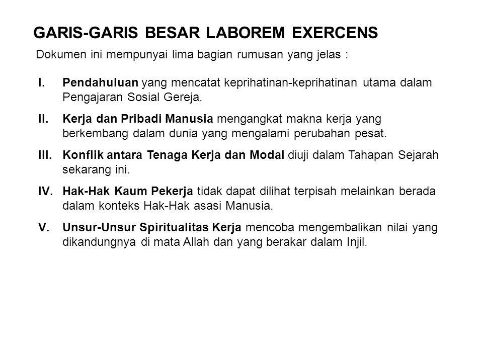GARIS-GARIS BESAR LABOREM EXERCENS