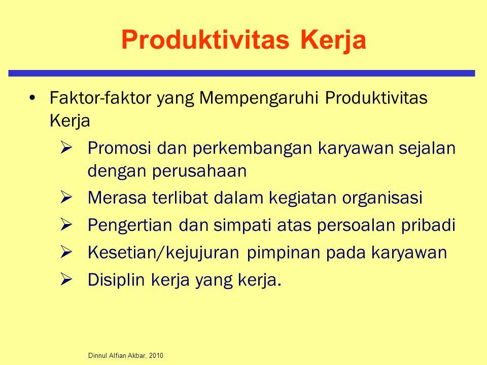 Produktivitas Kerja Faktor-faktor yang Mempengaruhi Produktivitas Kerja. Promosi dan perkembangan karyawan sejalan dengan perusahaan.