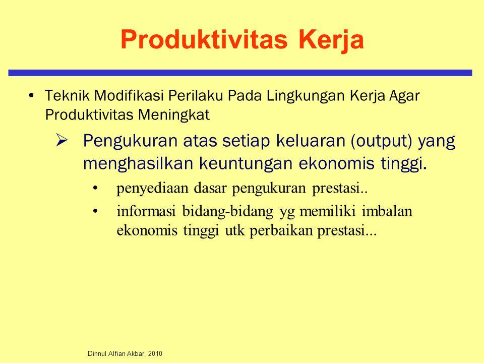 Produktivitas Kerja Teknik Modifikasi Perilaku Pada Lingkungan Kerja Agar Produktivitas Meningkat.