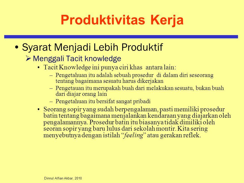 Produktivitas Kerja Syarat Menjadi Lebih Produktif