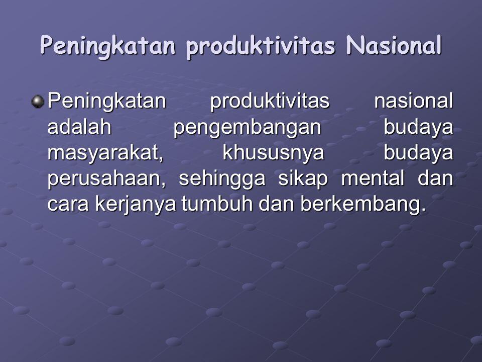 Peningkatan produktivitas Nasional