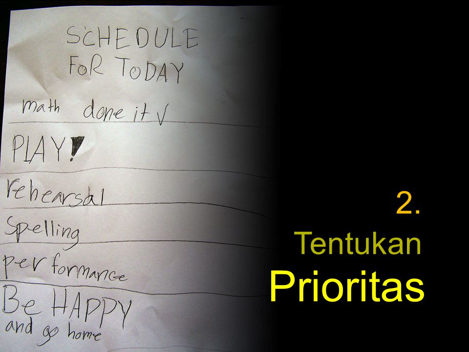 2. Tentukan Prioritas