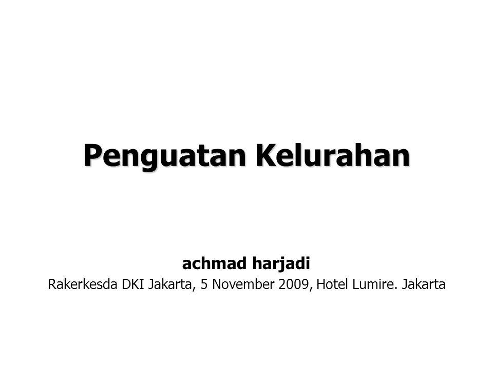Rakerkesda DKI Jakarta, 5 November 2009, Hotel Lumire. Jakarta