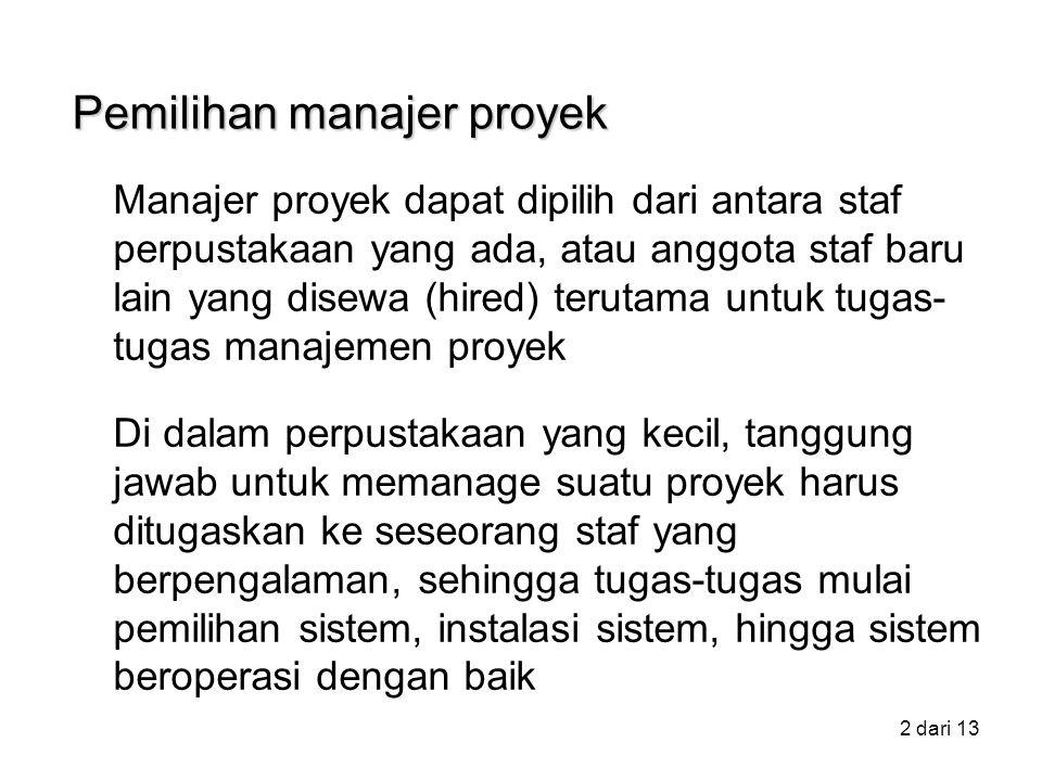 Pemilihan manajer proyek