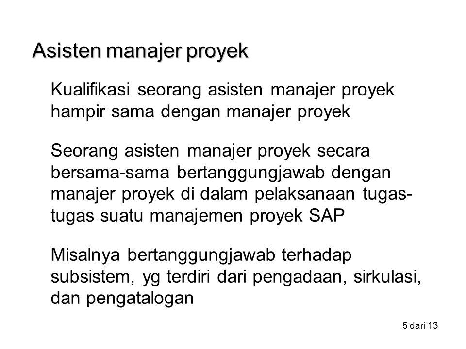 Asisten manajer proyek