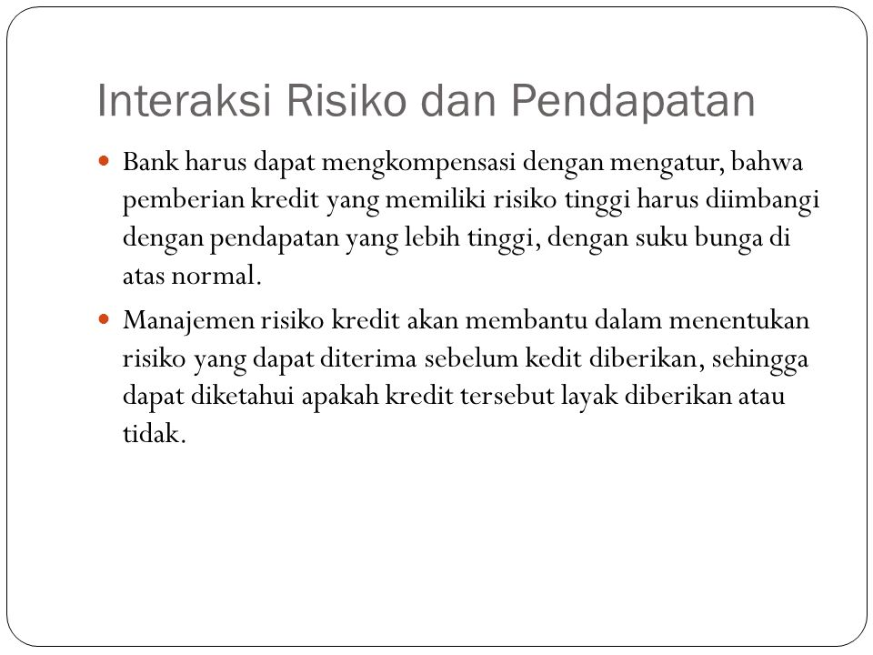 Interaksi Risiko dan Pendapatan