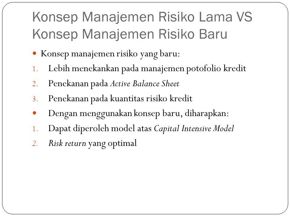 Konsep Manajemen Risiko Lama VS Konsep Manajemen Risiko Baru