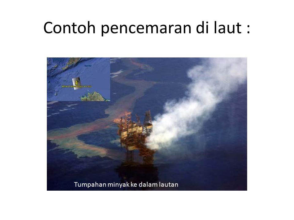 Contoh pencemaran di laut :