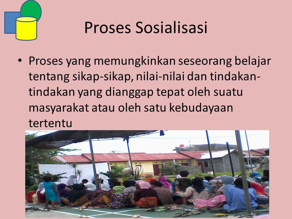 Proses Sosialisasi