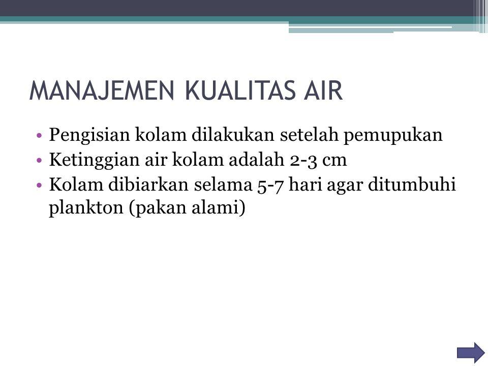 MANAJEMEN KUALITAS AIR